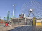 Take in the ocean views from the Ferris wheel!