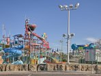 Everyone will love visiting the numerous amusement parks nearby.