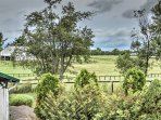 The back of the property is lined by a 300 acre horse farm!