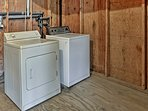 A washer and dryer are included.