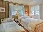 Twelve guests can sleep comfortably throughout 4 private bedrooms.