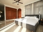 master bedroom with plenty of wardrobe space and ensuite.