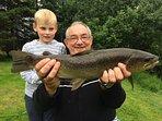 Brown trout caught in Crubenbeg lochan