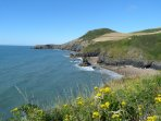 Cardigan Bay coastal path and great beaches a short drive away.