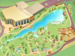 Map of Creation Museum grounds.