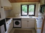 Well equipped kitchen with a view!