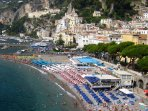 Amalfi Beach, 5 minutes walking