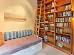 Choose a book from the small library to read during your stay.