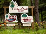 You'll have access to the Cedar Creek Resort amenities.