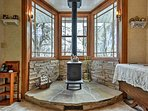 Eliminate your winter chill in front of the wood-burning stove.