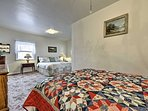 With 2 beds, this room is perfect for 2 couples or a family slumber party.