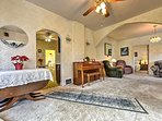 This spacious room will prove to be a frequented gathering spot for your travel group.