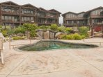Spacious lakefront condo w/ private deck, shared hot tub, and incredible views