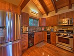 With stainless steel appliances and granite countertops, this  kitchen makes cooking a breeze.