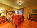 Both room's feature plush beds and flat-screen Direct TVs.