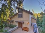 This craftsman-style home sits just minutes from Lake Arrowhead and the Lake Arrowhead Village.