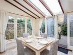 A lovely dining area for four