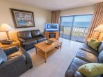 Direct Oceanfront - Corner Unit - Enjoy 2 private balconies with amazing views