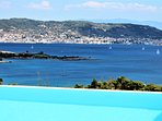 View of Island Spetses, Sailing boats