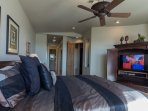 Very Large Master Bedroom With King Bed, TV and Exit To Back Patio
