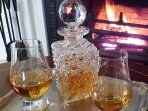 A dram of whisky to welcome you to Tullich House.