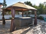 Gazebo with Hot tub