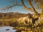 Lakeland Cottage: Lake District National Park UNESCO World Heritage Designated Site In Spring.