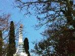 Eifel tower at the entrance of Trouillas village