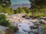 Lakeland Cottage: Lake District National Park UNESCO World Heritage Designated Site In Summer.