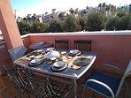 Dining area private solarium 2360 degree views seating for 6