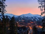 Breckenridge ski resort as seen from town