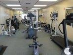 plenty of equipment to exercise