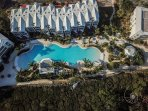 Aerial View of Our Stunning Oceanfront Oasis Pool