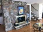 FIREPLACE ON LOWER LEVEL