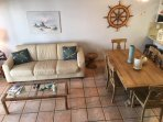 Dining Room/Living Room W/New Natuzzi Leather Queen Size Sleeper Sofa Bed