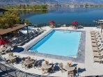 Laze in the sun by the outdoor pool, overlooking Osoyoos Lake
