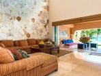 Riviera Maya Haciendas, Villa Nautica - Living Room With Ocean View