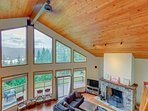 Gorgeous modern home with expansive deck and mountain views