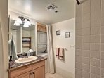 In-unit laundry machines are provided in the second bathroom for your convenience.