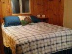 Queen pillow-top bed.