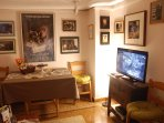 The Sitting Room is decorated with original posters from favorite movies