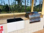 Enjoy the outdoor grill and sink on the pool deck