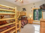 Bedroom #5 - Kids room! TV, Blu-Ray, 2 full/twin bunk beds (lower level)