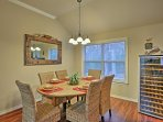 This dining table seats 6 for a wine and dinner party!