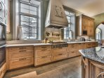 Gourmet Kitchen with High-end Finishes, Miele Stainless Steel Appliances, Granite Countertops, 6-Burner Gas Stove...