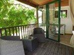 Terrasse privative chambre parentale
