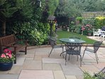 Landscaped Garden with artificial grass, lots of seating, BBQ & al fresco dining area