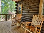 Enjoy rocking on the covered porch