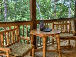 Enjoy a snack or do some internet surfing on the porch