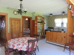 Cozy eat in kitchen at Rockland Cottage